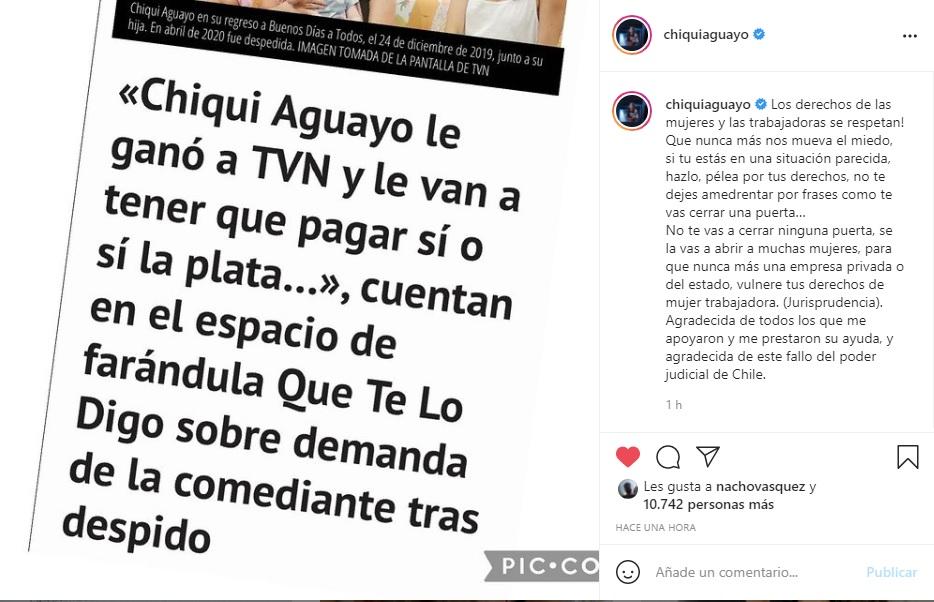 Captura Instagram Chiqui Aguayo