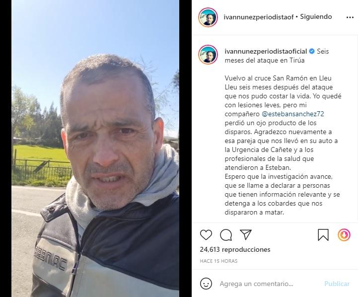 Captura Instagram Iván Núñez