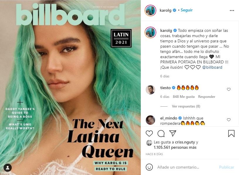 Captura Instagram Karol G