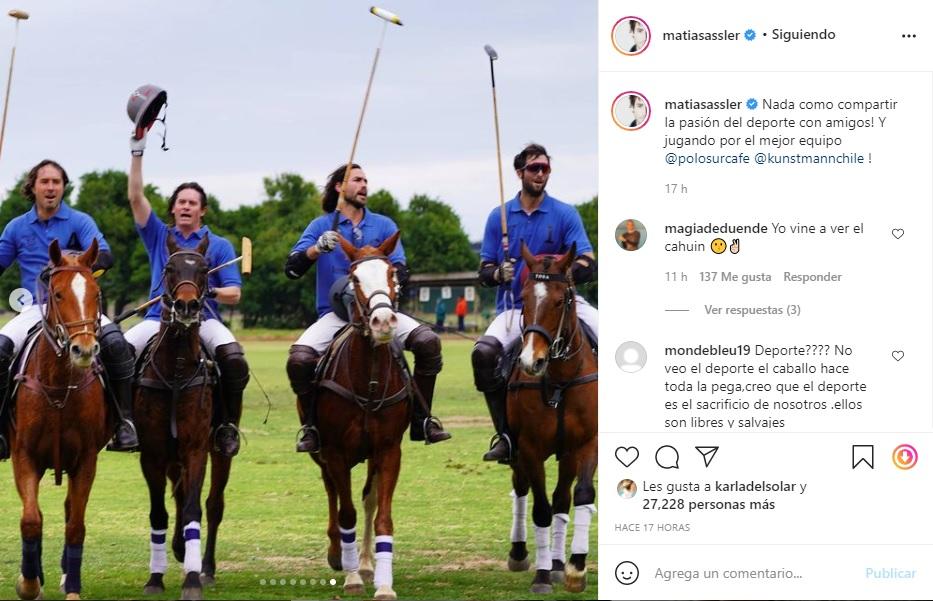 Captura Instagram Matías Assler